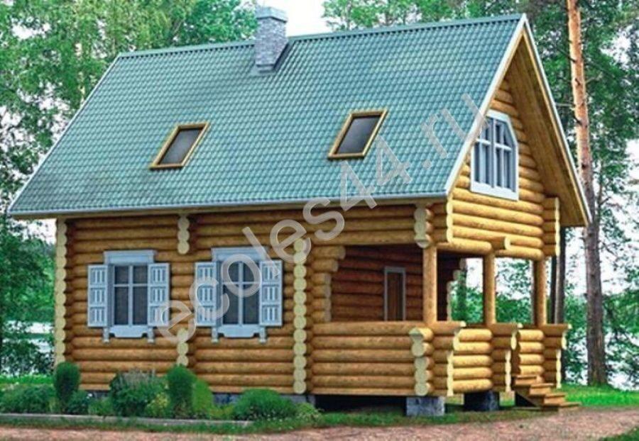 Деревянный дом из бревна фото